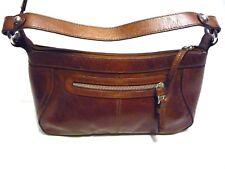 women's handbag tan real leather tote shoulder medium sturdy luxury new M&S