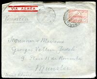 URUGUAY TO GERMANY Air Mail Cover 1928, VF