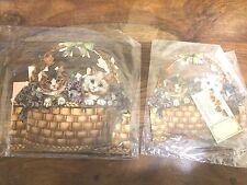 John Grossman The Gifted Line Gift Basket Boxes Kittens NEW  Lot of 2