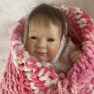 Realistic Lifelike Baby Doll 12 Inches Marked Linde 98