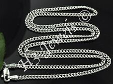 3.20 grams 18k solid white gold curb link chain necklace 16 inches #66