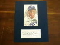 RACHEL ROBINSON JACKIE ROBINSON DODGERS HOF SIGNED AUTO MATTED INDEX CARD SGC