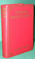 Famous Prize Fights by Jeffery Farnol-First U.S. Edition-1928-Illustrated
