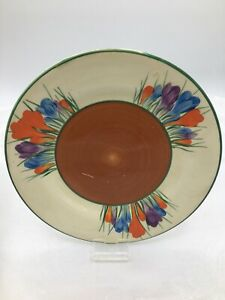 """Clarice Cliff Autumn Crocus Pre War hand painted 6"""" Side Plate - Free UK P&P"""