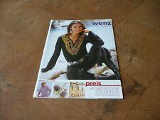 Katalog Wenz von 2003