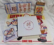 Raggedy Ann & Andy Postcards Place Mat Coasters 2002 Plate Notebook Baseball LOT