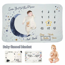 Milestone Photography Baby Infant Blanket Monthly Flower Number Photo Props New