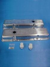 Small Block Chevy 327 350 Short Ball Milled Aluminum Valve Covers SBC Street Rod