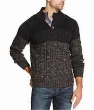 Weatherproof Mens Ombre Pullover Sweater, Black, Large