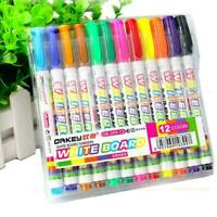 12 Colors Whiteboard Markers Pens White Board Dry Erase Nice Pens Marker Q5S1