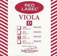 Super Sensitive 9427Djr Red Label 13 In. Viola D String