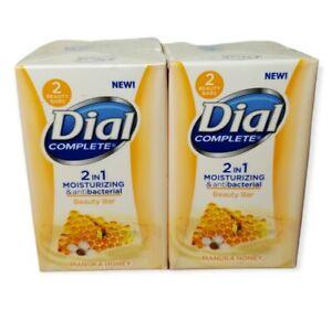 4 Bars Of Dial Complete 2 in 1 Manuka Honey Moisturizer Antibacterial  Soap