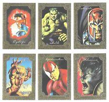 1996 Marvel Masterpieces GALLERY Insert Set (6)  RARE!