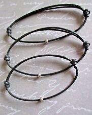 Unisex Adjustable Surf Style Waxed Cotton Cord Bracelet Friendship/surf/casual