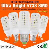 5733 Smd Led Corn Bulb Lamp Light 7/9/12/15/25w Warm Cool White milky 110v 220v