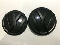 VW GRILLE HATCH Matte Black Badge Set Combo for VW POLO 6C GTI TSI 2015 ~ 2018