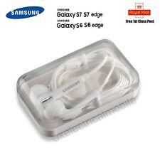 Genuine Samsung Galaxy S6 Edge S7 S5 Note Earphones Headphones+Case+Earbud WHITE