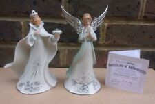 More details for hawthorne village silver blessings nativity - king gaspar & angel of prayer