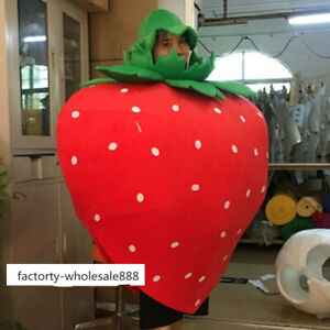 Advertising Fruits Strawberry Mascot Costume Suits Adults Size Fancy Dress New
