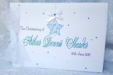 PERSONALISED STAR -  CHRISTENING - NAMING DAY- BABY - GUEST BOOK  - STARS