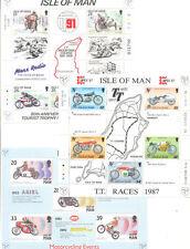 Isla De Man-Motocicletas TT carreras Conjunto de 3 hojas especiales Min estampillada sin montar o nunca montada