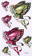 Tatouages Temporaire Papillons Fée 6 Stickers body art