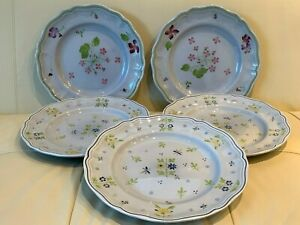 Vintage Longchamp Mon Jardin Dinner Plates Set of 5