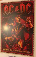 AC/DC - ANGUS - KEN TAYLOR - COLUMBUS - OHIO - 2008 BLACK ICE-  TOUR POSTER -