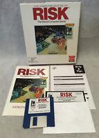 "1995 RISK Game Computer Edition Virgin Games IBM PC 3.5"" & 5.25"" - CIB!"