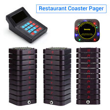 Wireless Restaurant Pager Queuing Calling System Keypad Transmitter +30 Receiver