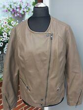 CECIL Damen Lederjacke Jacke ♥ Beige Taft gefüttert ♥ Gr, XL NEU VK 99,00€