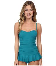 NWT $168 Tommy Bahama Sweetheart Cup Bra Ruffle Tankini Swimsuit Set Women's XS