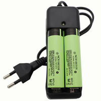 2X 18650 NCR18650B 3400mAh 3.7V Li-ion Battery High Drain Rechargeable&Charger