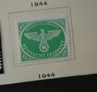 Mint Stamp Nazi Eagle Swastika Germany WWII Hitler Era FELDPOST/FIELDPOST 1944