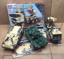 MEGABLOKS 3 Military Vehicles - M2A3 Bradley, tank, missile launcher mega bloks