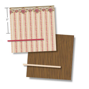 1:48 Scale Dollhouse Wallpaper - Ivory Floral - from a 1919 Vintage Pattern