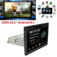 "1Din 10.1"" Android 8.1 Quad-core Car Stereo GPS Navigation Radio Player WIFI"
