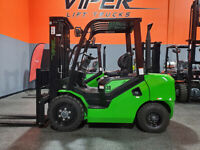 2021 VIPER FD30 FORKLIFT 6000LB PNEUMATIC FORKLIFT DIESEL LIFT TRUCK HI LO