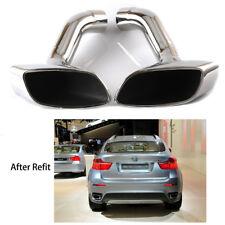 Car Exhaust Tip Muffler Pipe End Pipes Rear for BMW E71 X6 30D 35D 40D 2008-2014