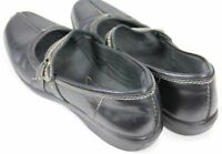 Clarks Collection Women's $70 Comfort Shoes Size 9.5 Leather Black