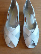 Ladies Cefalu Peep Toe Leather Wedge Shoes   EU 36.5 - UK3.5  Brand New