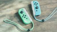 Nintendo Switch Animal Crossing Horizons Game Joycon controller & Strap Only JP