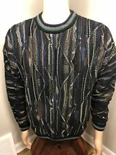 90s VTG TUNDRA Sweater Mens LARGE Coogi Style Hip Hop Biggie Snoop 80s Retro