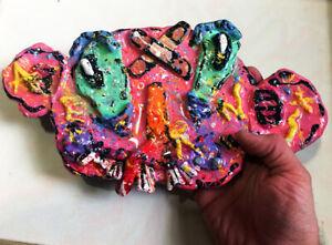 "Original JUSTIN AERNI circa 2021 clay SCULPTURE dark art surreal  ""BILLY PSYCHO"""