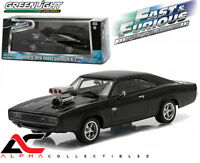 """GREENLIGHT 86228 1:43 DOM'S 1970 DODGE CHARGER R/T """"FAST AND FURIOUS-FAST FIVE"""""""