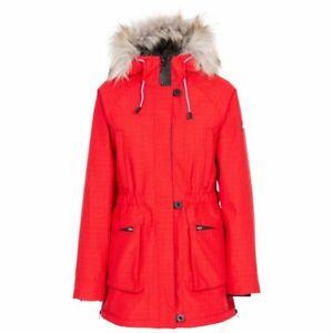 Trespass Caption Women's Waterproof Parka Jacket - Red