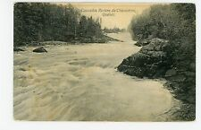 Chicoutimi Rivers Falls QUEBEC Rare Antique CPA Cascades 1908