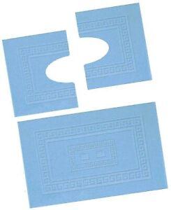 Torino Set 3 tappeti bagno in spugna, 1 cm 60X90 + 2 Girowater cm 60x45