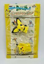 Pikachu Pichu Banpresto Joint Figure Keychain Japanese Original Sealed - 2001