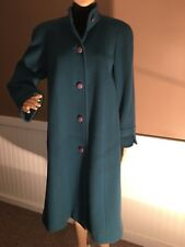 Beautiful Vintage Aquascutum Of London Women's Color Teal Long 100% Wool